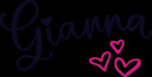 Gianna Lucas logo with hearts